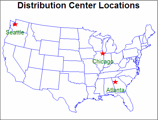 Map Of Usa Labeled States And Cities - Us map labeled with cities
