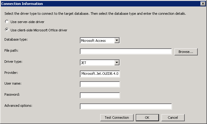 SAS Help Center: Client-Side Microsoft Office Driver