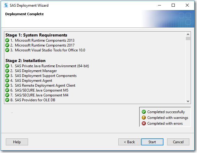 SAS® Help Center: Step 4: Install and Configure SAS