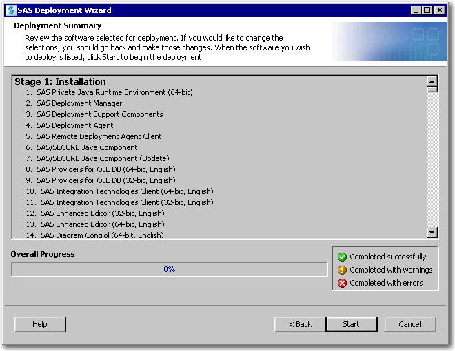 SAS Help Center: Install and Configure SAS Interactively