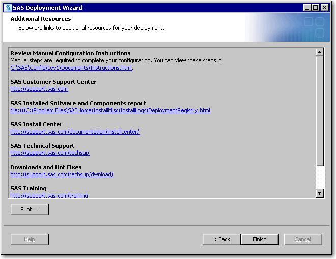 SAS® Help Center: Install and Configure SAS Interactively