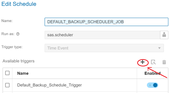 SAS® Help Center: Backup and Restore: Schedule a Backup