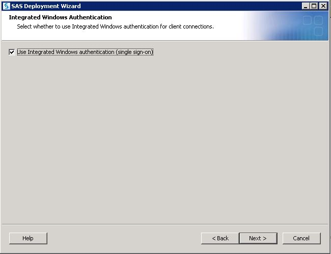SAS Help Center: Integrated Windows Authentication