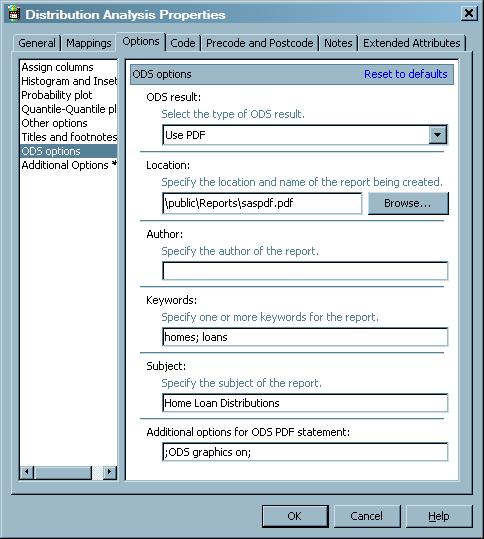 SAS Help Center: Creating a Distribution Analysis