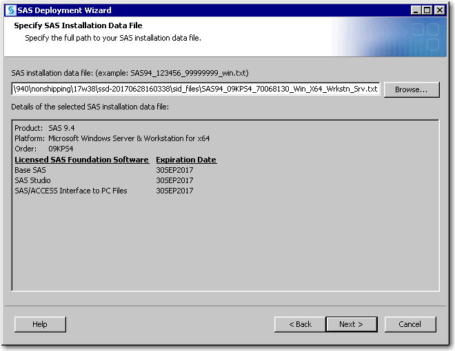 SAS Help Center: Example: Add a Product to Your SAS Deployment