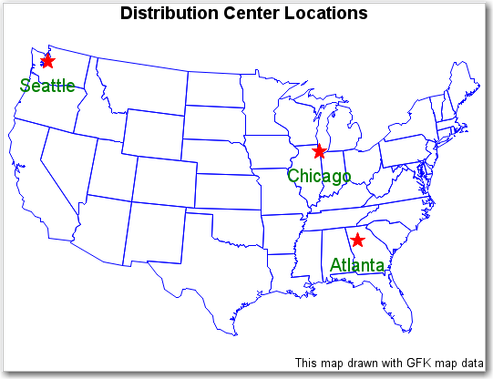 SAS Help Center: Example: PROC GMAP Labeling Cities on a Map