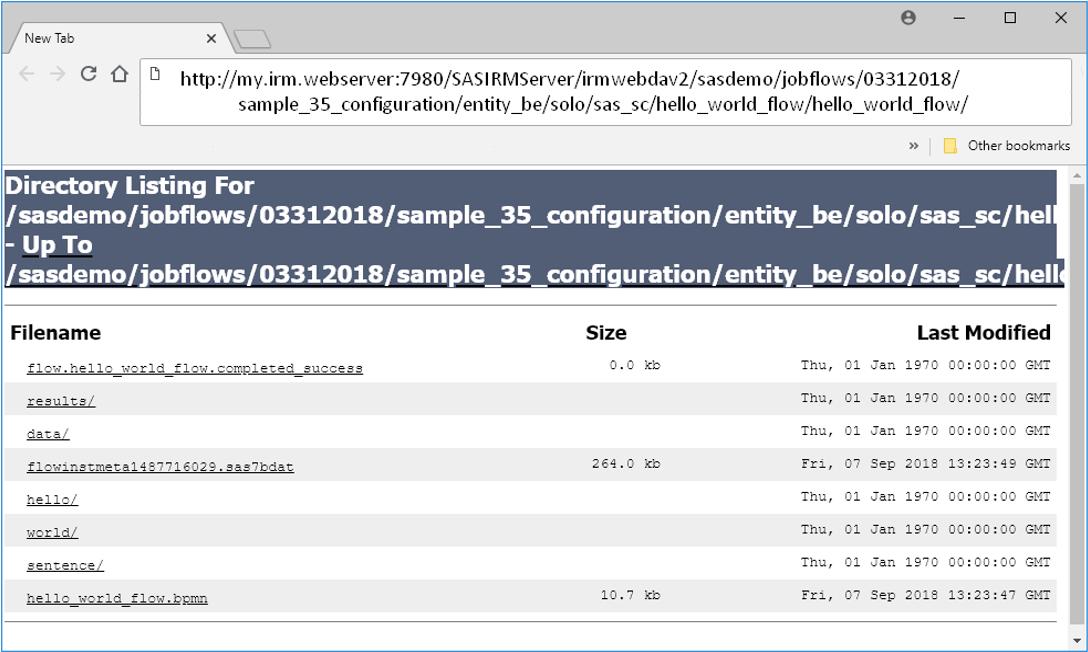 SAS Help Center: Using a WebDAV URL in a Browser