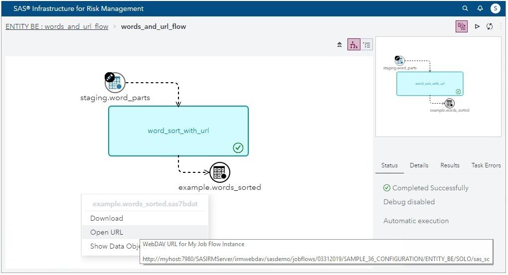 SAS® Help Center: Configuring an Output URL