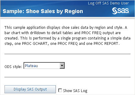 SAS Help Center: Using the SAS Stored Process Web
