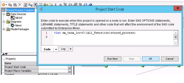 SAS Help Center: Creating a Stored Process