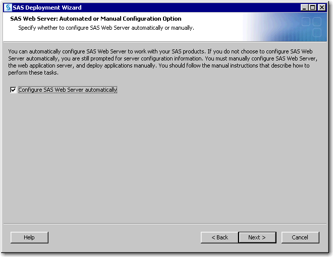SAS® Help Center: Step 4: Install and Configure SAS