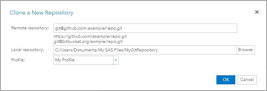SAS Help Center: Cloning a Repository